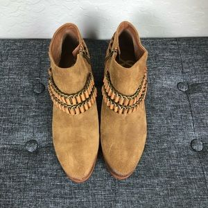 Sam Edelman Brown Suede Booties in Size 8
